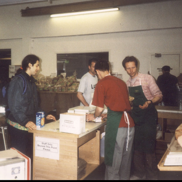 The shop in early days
